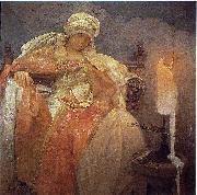 Woman With a Burning Candle