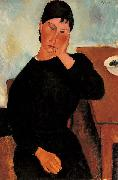 Elvira Resting at a Table, Amedeo Modigliani