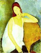 Portrait of Jeanne Hebuterne, Amedeo Modigliani