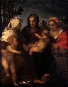 Madonna and Child with Sts Catherine, Elisabeth and John the Baptist, Andrea del Sarto