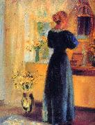 Young Girl in front of Mirror