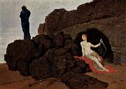 Arnold Bocklin Odysseus und Kalypso oil painting reproduction