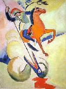 August Macke Heiliger Georg oil painting reproduction