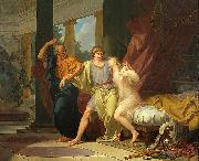 Baron Jean-Baptiste Regnault Socrates Tears Alcibiades from the Embrace of Sensual Pleasure oil painting reproduction