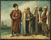 The Ambassador from Tunis with His Attendants as He Appeared in England in 1781, Benjamin West