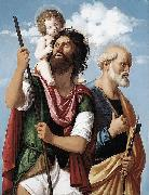 St Christopher with the Infant Christ and St Peter, CIMA da Conegliano