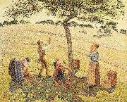 Apple harvest at Eragny, Camille Pissarro