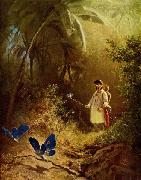 Carl Spitzweg Der Schmetterlingsjager oil painting reproduction