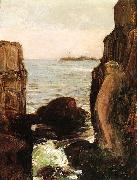Nymph on a Rocky Ledge, Childe Hassam