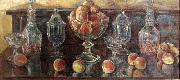 Still Life with Peaches and Old Glass, Childe Hassam