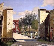 Christen Kobke The North Gate of the Citadel oil painting reproduction