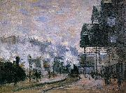 Claude Monet Saint-Lazare Station, the Western Region Goods Sheds oil painting on canvas