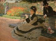WLA metmuseum Camille Monet on a Garden Bench, Claude Monet