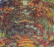 The rose-way in Giverny, Claude Monet