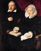 Cornelis de Vos Portrait of Elisabeth Mertens and Her Late Husband oil painting reproduction
