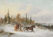 Cornelius Krieghoff Going to Town oil painting reproduction