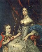 Daniel Schultz the Younger Portrait of Maria Kazimiera with her son Jakub Ludwik oil painting