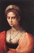 Domenico Puligo Portrait of a Lady oil painting reproduction