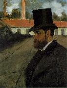 Henri Rouart in front of his Factory, Edgar Degas