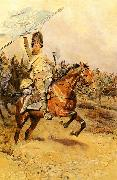 Edouard Detaille La Charge oil painting on canvas