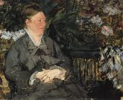 Edouard Manet Mme Manet im Gewachshaus oil painting reproduction