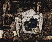 Egon Schiele Blind Mother, or The Mother oil painting on canvas