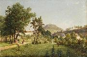 Ernst Gustav Doerell A View of the Doubravka from the Teplice Chateau Park oil painting artist