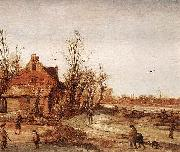 Esaias Van de Velde Winter Landscape oil painting reproduction
