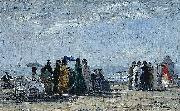 The Beach at Trouville, Eugene Boudin