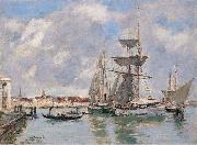 Venice, The Grand Canal, Eugene Boudin