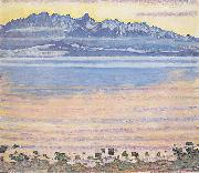 Ferdinand Hodler Thunersee mit Stockhornkette oil painting on canvas