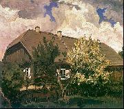 Ferdynand Ruszczyc Manor house in Bohdanew oil painting artist