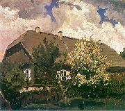 Ferdynand Ruszczyc Manor house in Bohdanow oil painting artist