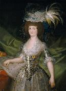 Queen of Spain Maria Louisa, nee Bourbon-Parma.