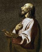 Detail from Saint Luke as a Painter before Christ on the Cross. Widely believed to be a self-portrait, Francisco de Zurbaran