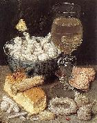 Still-Life with Bread and Confectionary, Georg Flegel