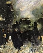 George Wesley Bellows Steaming Streets oil painting reproduction