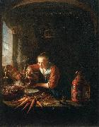 Woman Pouring Water into a Jar