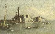 Giacomo Guardi View of the Isola di San Michele in Venice oil painting reproduction