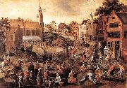 Gillis Mostaert Village Feast oil painting