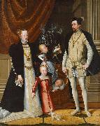 Holy Roman Emperor Maximilian II. of Austria and his wife Infanta Maria of Spain with their children