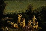 Giuseppe Maria Crespi Cupids Frollicking oil painting reproduction