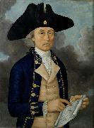 Guan Zuolin of Macao Portrait of Captain Joseph Huddart oil painting