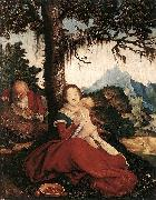 Hans Baldung Grien Rest on the Flight to Egypt oil painting