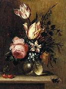 Hans Bollongier Flowers in a Vase oil painting reproduction