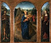 Triptych of the Rest on the Flight into Egypt.