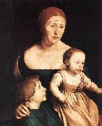 The Artist's Family, Hans holbein the younger