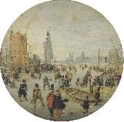 Hendrick Avercamp Winter landscape oil painting reproduction