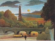 Seine and Eiffel-tower in the sunset, Henri Rousseau