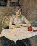 Young woman at a table